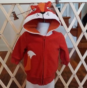 🚨6-9m fleece fox hoodie jacket🚨